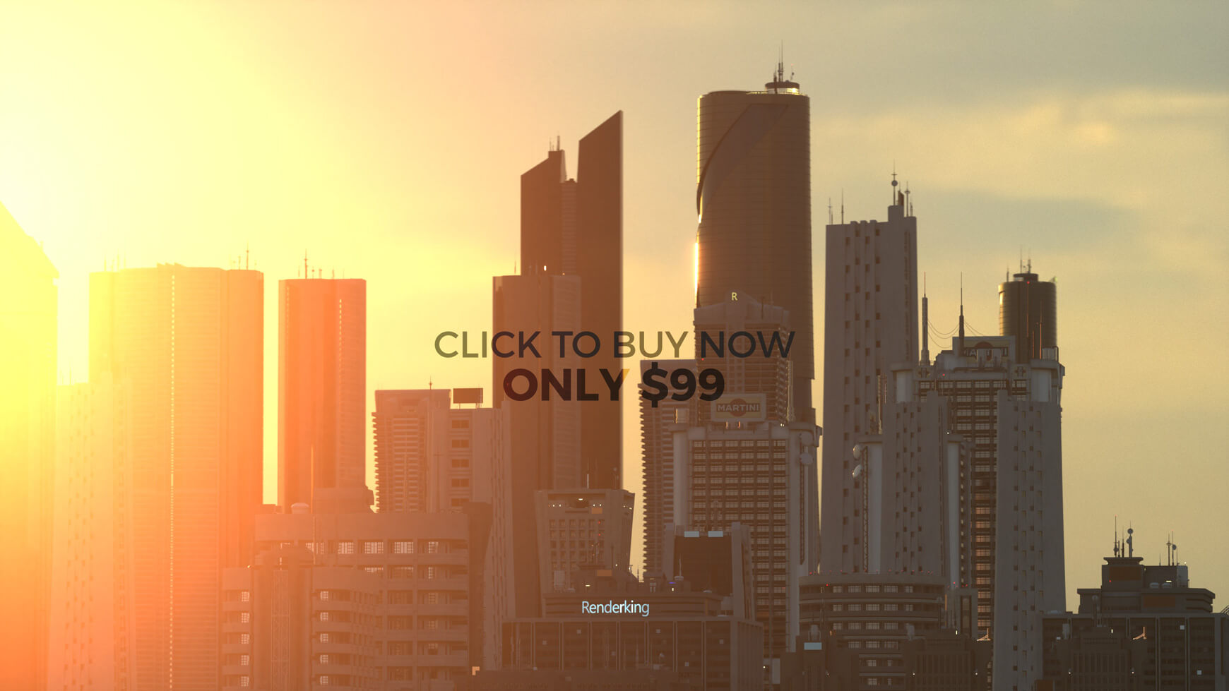 Modern Cityscape Collection Cinema 4D Octane Redshift Building Kitbash Skyscraper