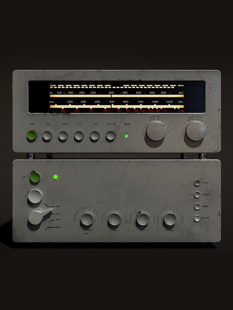 Free Cinema 4D 3D Model Retro Radio