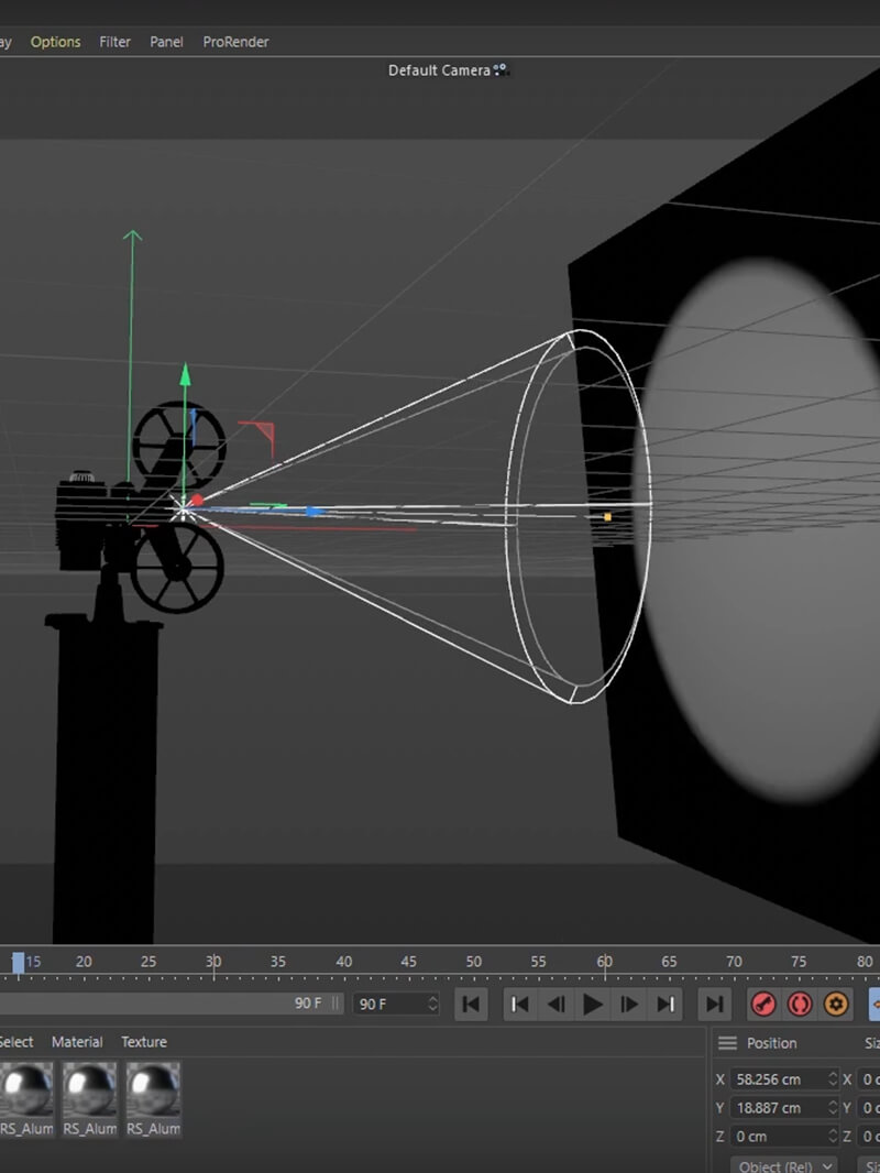 Cinema 4D Redshift Tutorial Flickering Projector