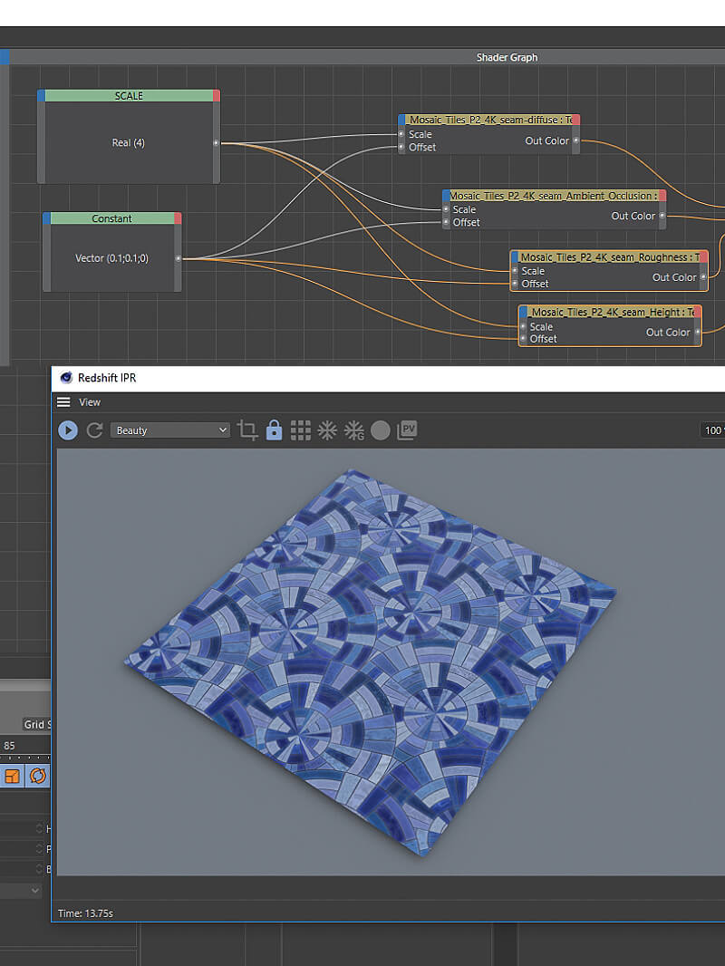 Cinema 4D Redshift Tutorial Texturing with Math Constant Node