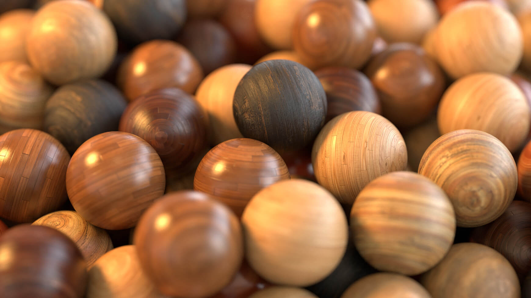 Redshift Cinema 4D Mutating Material Texture Pack Wood