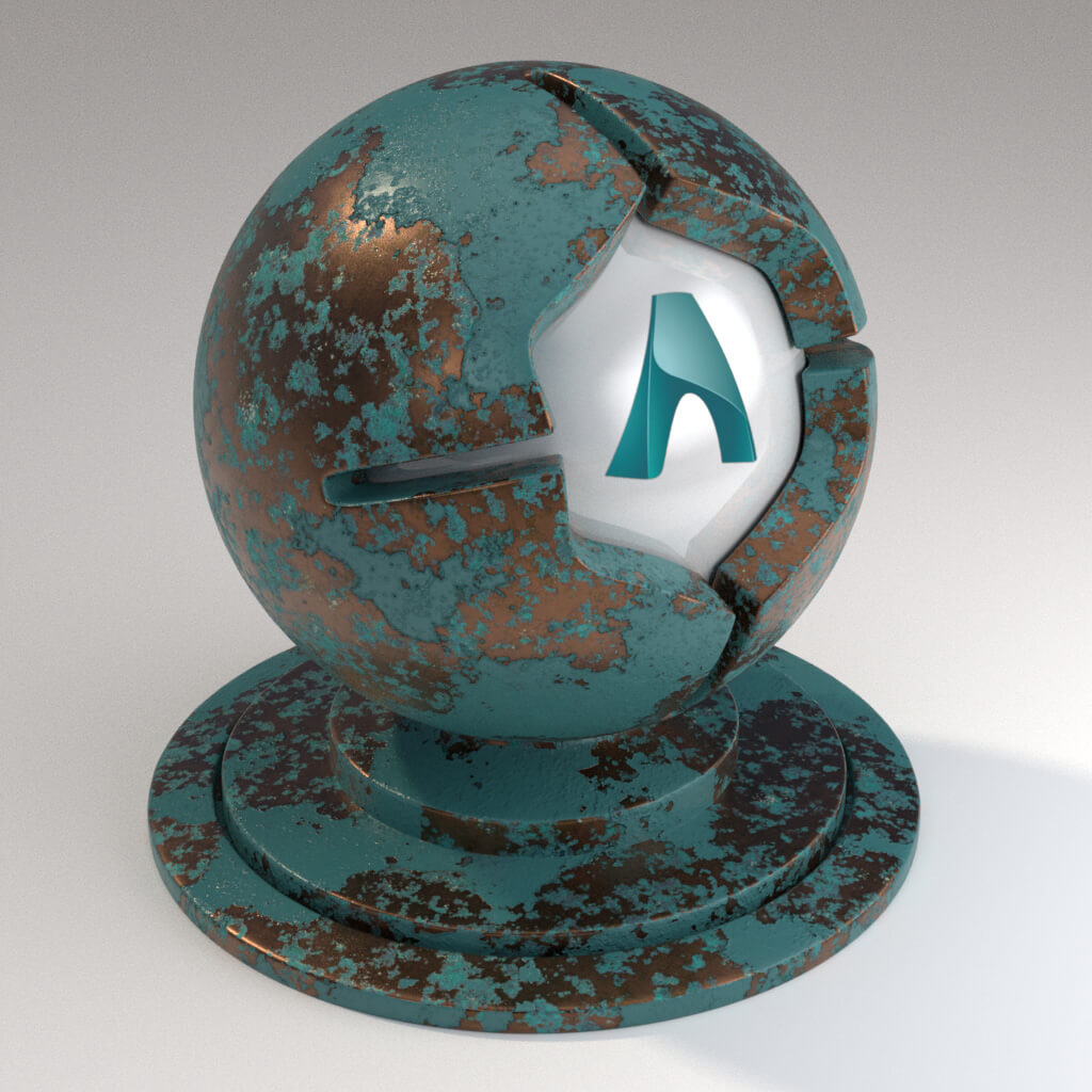 Cinema_4D_Arnold_Material_Pack_Mutating_Metal_Copper_Painted_Peeling_Heavy