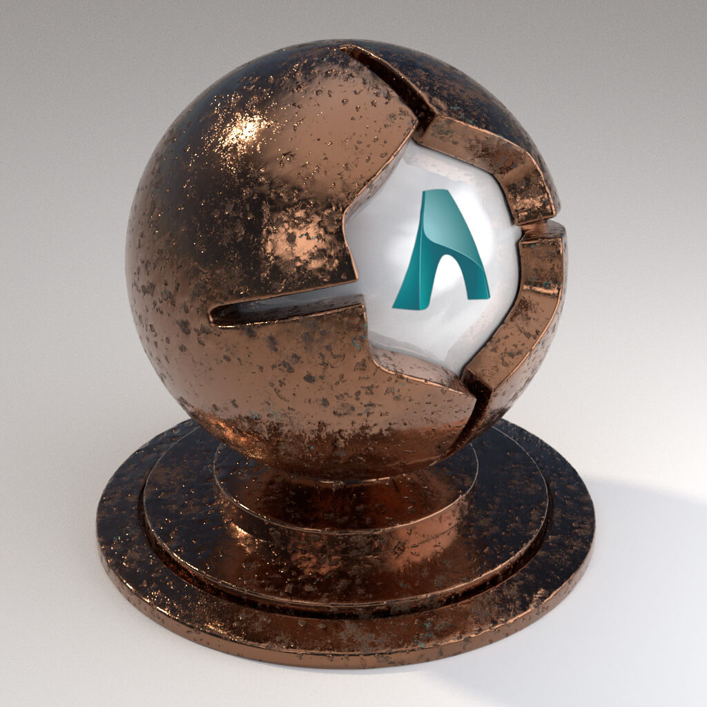 Cinema_4D_Arnold_Material_Pack_Mutating_Metal_Copper_Polished_Damaged_Moderate