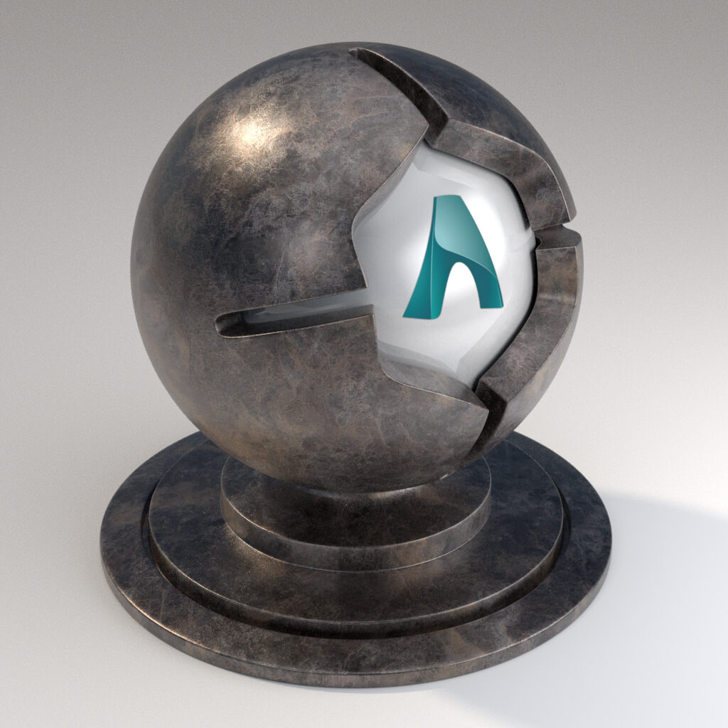 Cinema_4D_Arnold_Material_Pack_Mutating_Metal_Steel_Agate_Finish