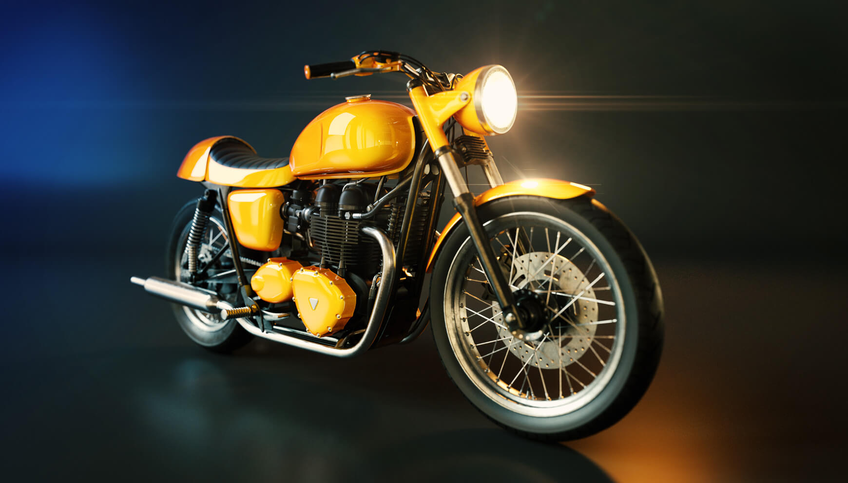 Cinema 4D 3D Model Free Motorcycle Texture Contest