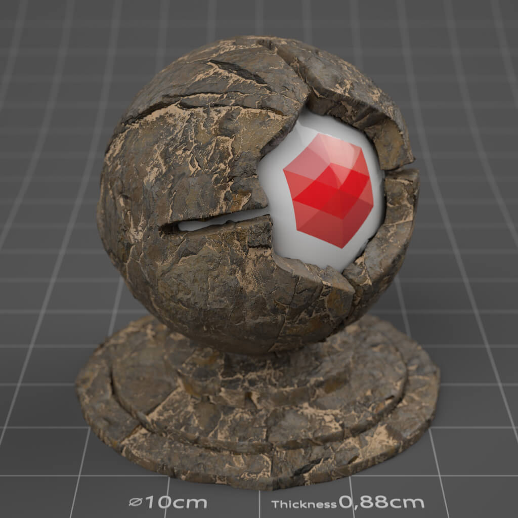 Cinema 4D Redshift RS Material Pack Stones Rock Granite Cliff Tiles