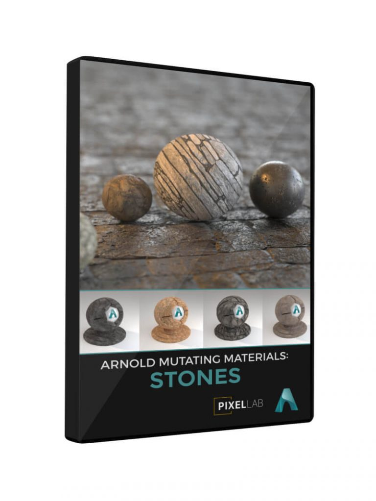 Cinema 4D Arnold Material Pack Stones Rock Stonewall Tiles