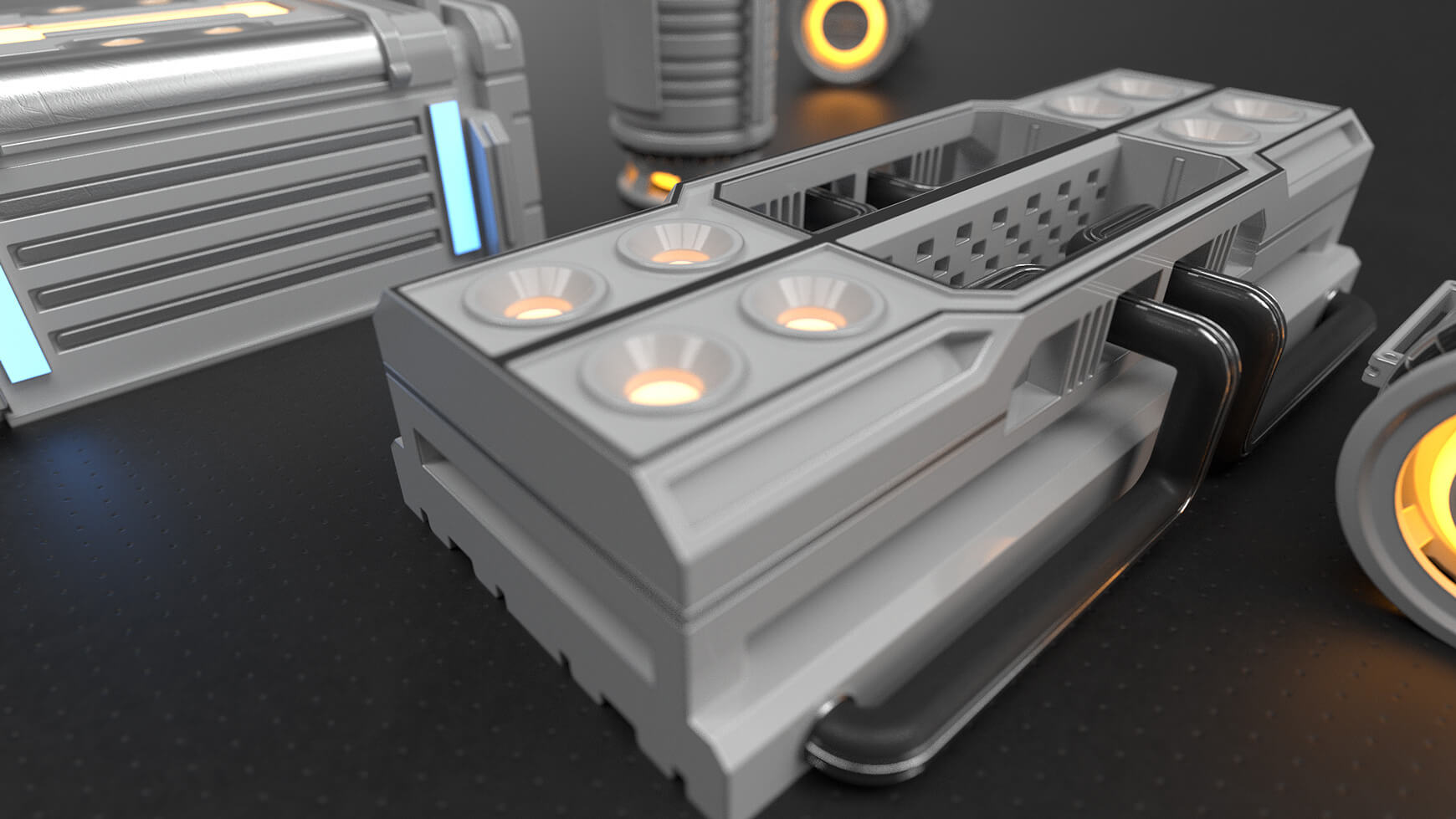 Free Cinema 4D Hard Surfaces Kitbash Model Sampler
