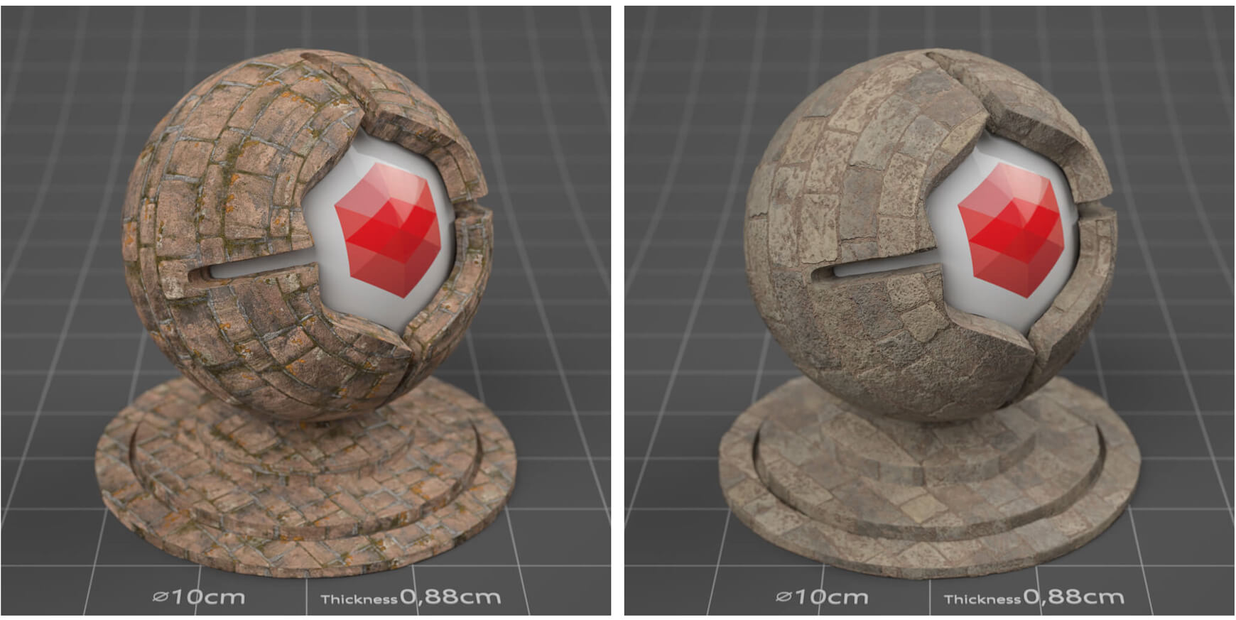 Free Cinema 4D Redshift Material Pack Stones Rock Sampler