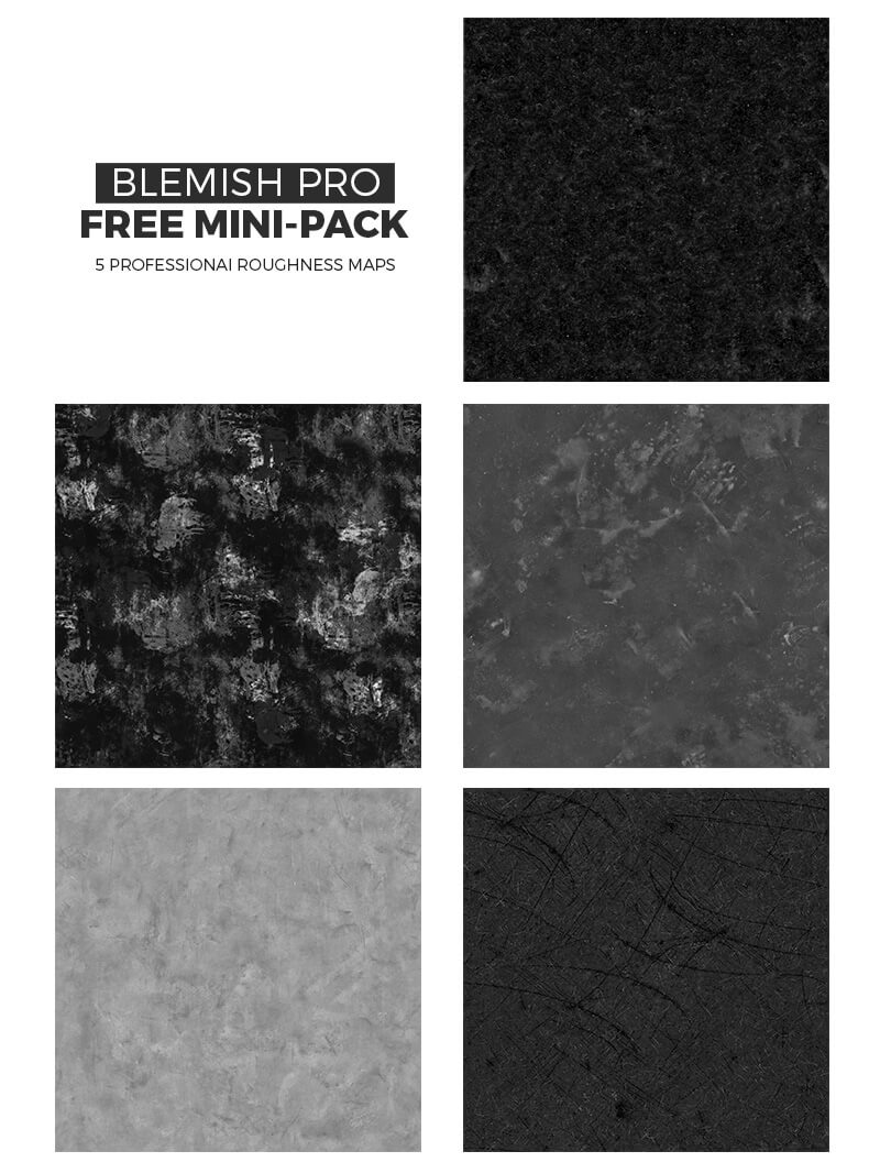 Free Blemish Pro Roughness Maps Pack