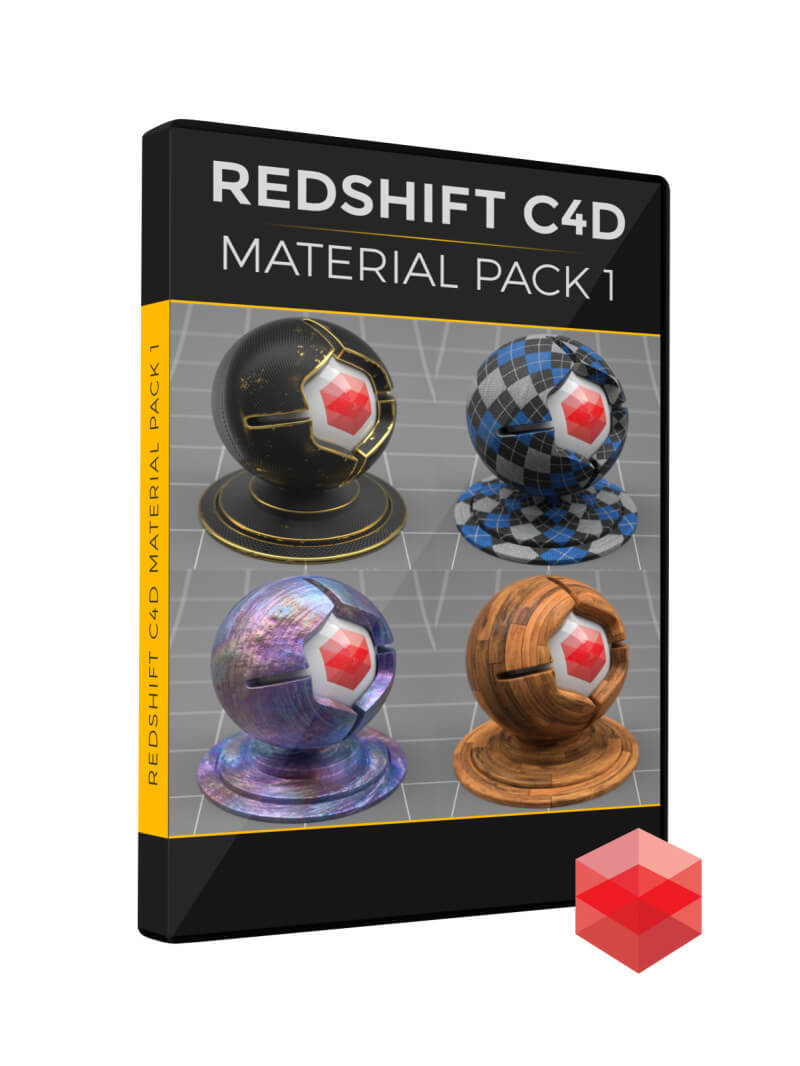 Redshift RS Cinema 4D C4D Material Pack 1