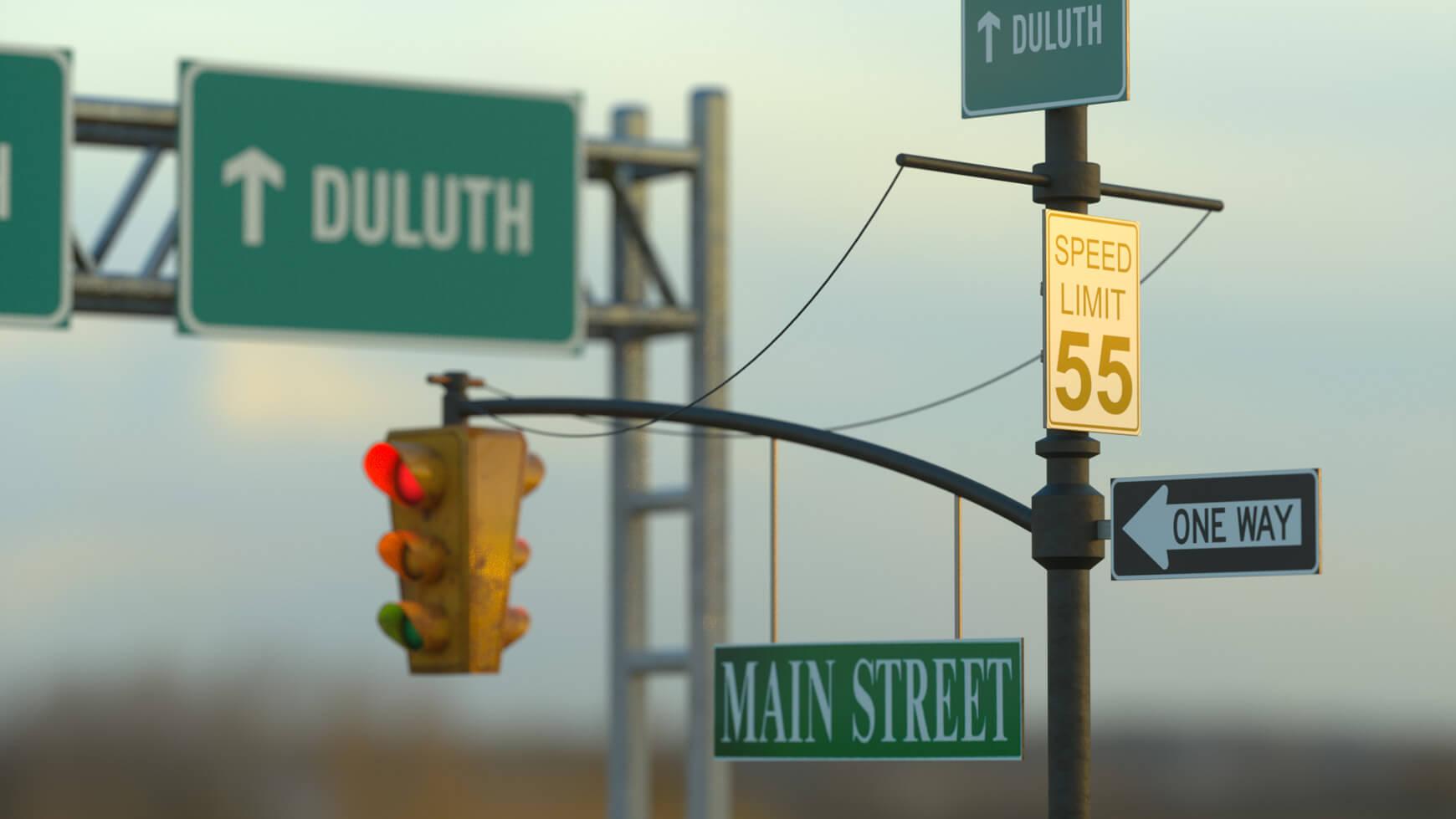 Cinema 4D 3D Streets Roads Textures Materials Models