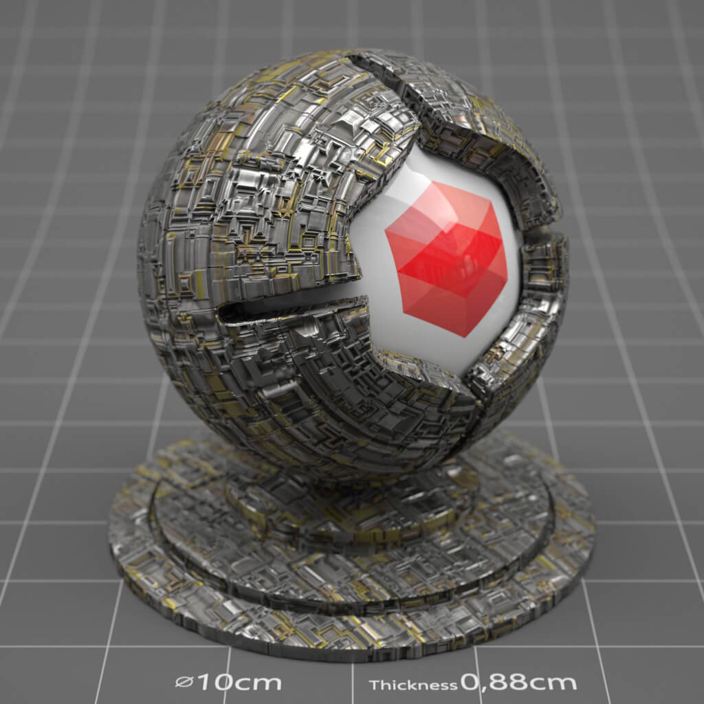 Redshift RS Cinema 4D Texture Metal