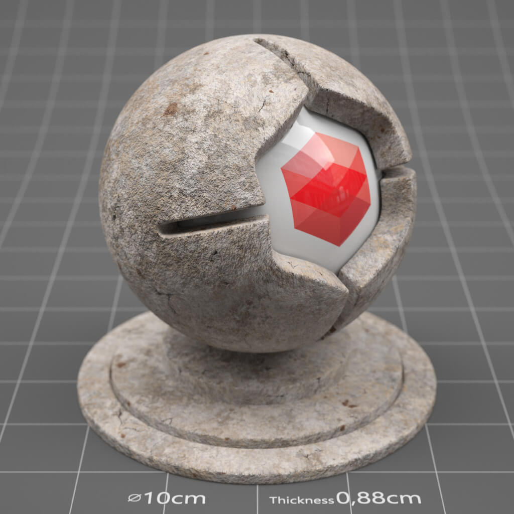 Redshift RS Cinema 4D Texture Stone