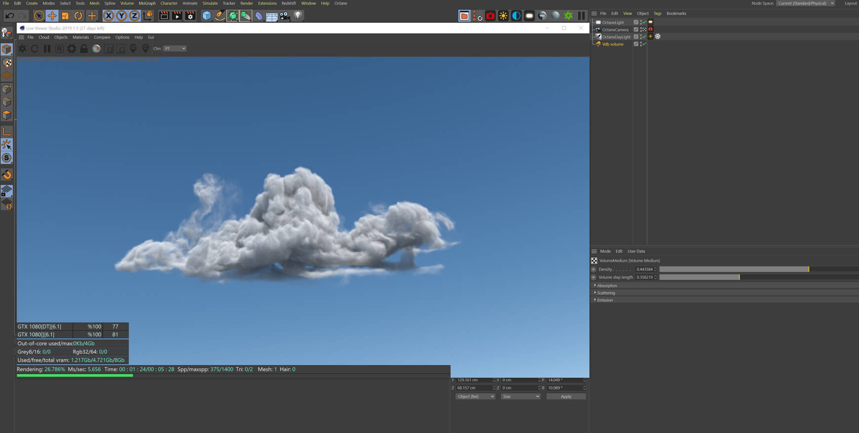 VDB Cloud Pack Volume 3 Redshift Cinema 4D Octane Houdini