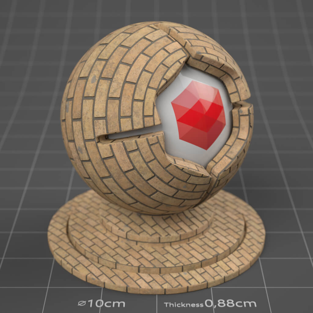 12_RS_Brick_12_Wall_Dirty_Cinema-4D-Redshift-Material