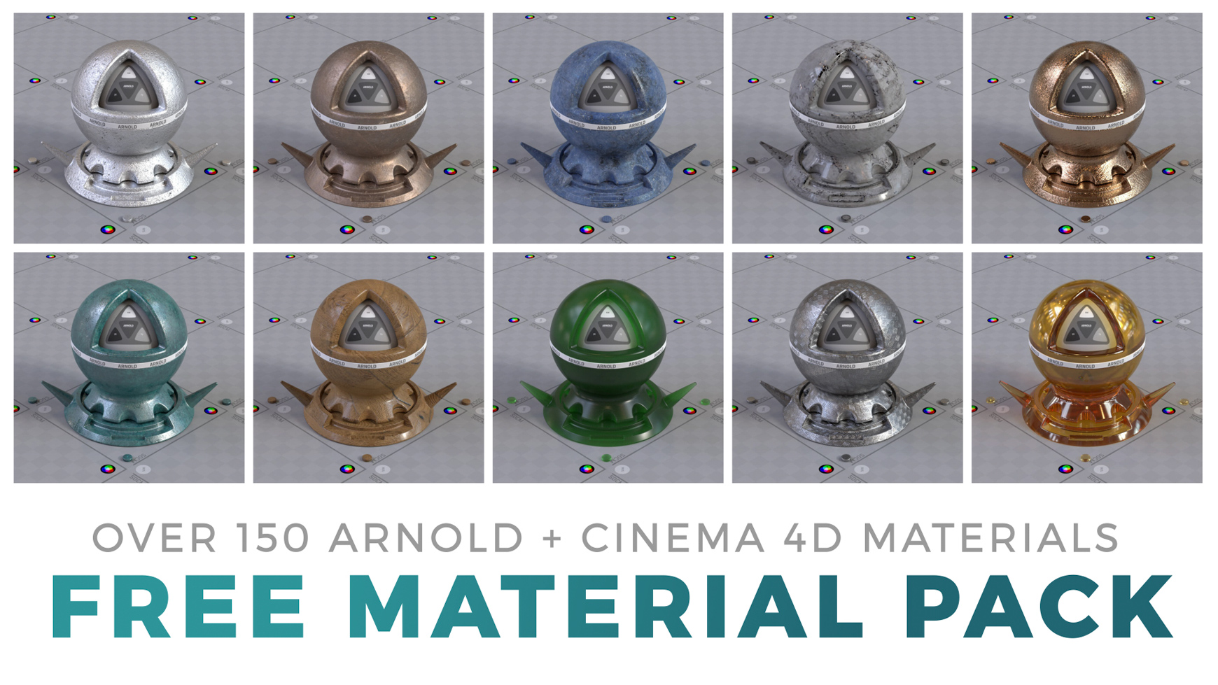 Free Arnold Material Pack for Cinema 4D Textures