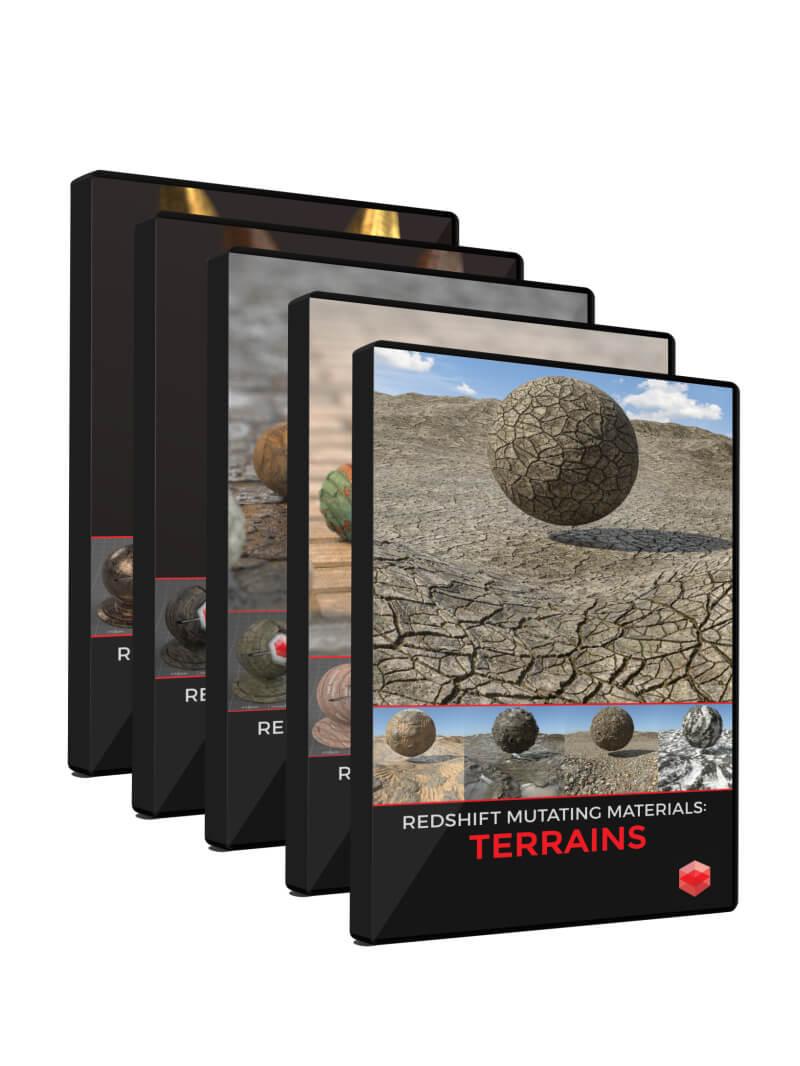 Redshift Material Pack RS Cinema 4D C4D Terrains Textures
