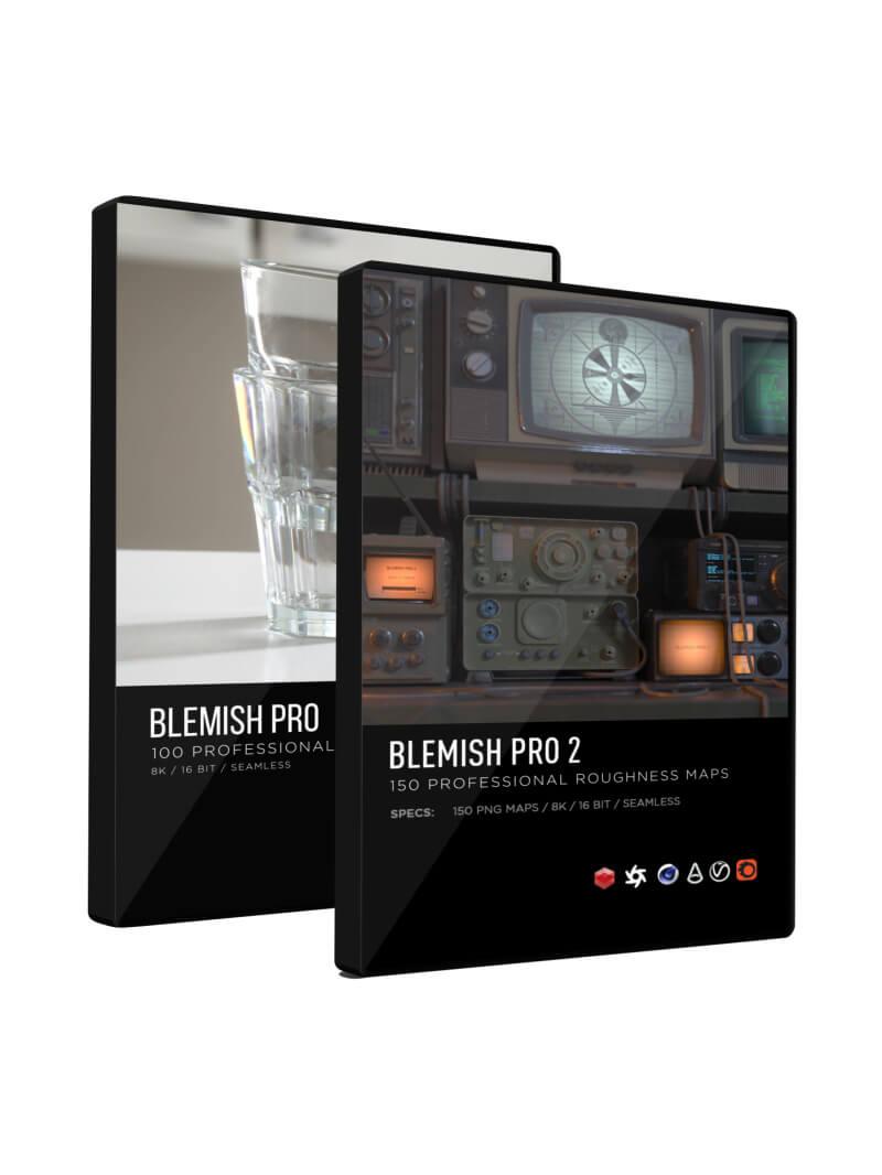 Blemish Pro 2 3D Roughness Scratch Maps Textures Bundle